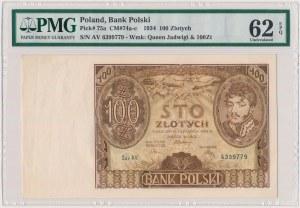 100 złotych 1934 - Ser.AV - dwie kreski w znaku wodnym