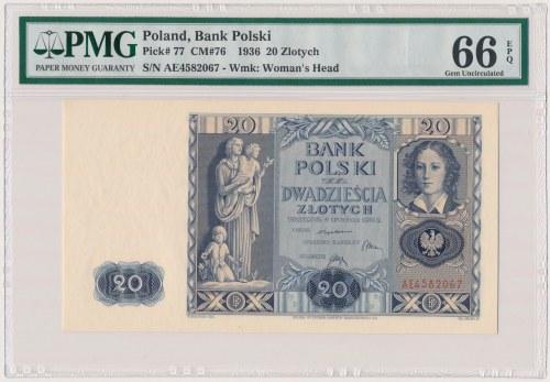 20 złotych 1936 - AE