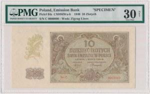 10 złotych 1940 - WZÓR - Ser.C 0000000