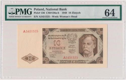 10 złotych 1948 - A