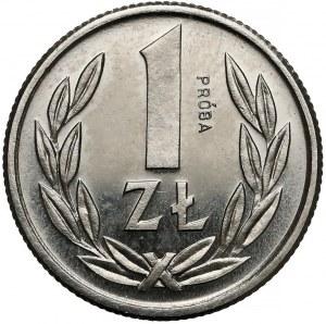 Próba NIKIEL 1 złoty 1989