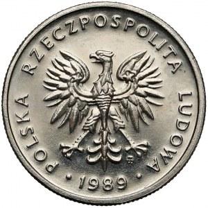 Próba NIKIEL 5 złotych 1989