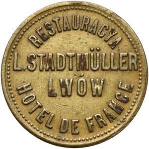 Lwów, L. Stadtmüller, Hotel de France - Restauracja, nominał 10