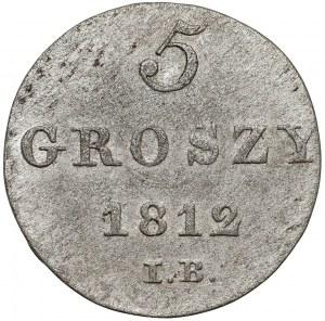 Księstwo Warszawskie, 5 groszy 1812 IB
