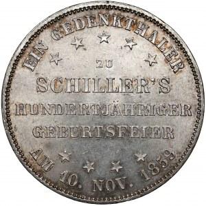 Niemcy, Frankfurt, Talar pamiątkowy 1859 - Schiller