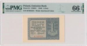 1 złoty 1940 - B