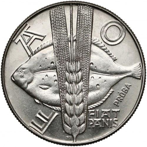 Próba NIKIEL 10 złotych 1971 FAO - Ryba