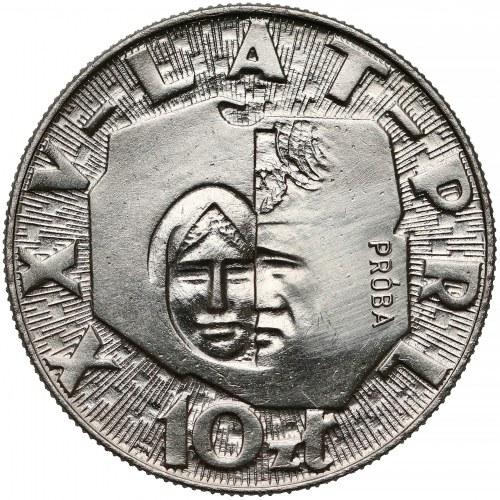 Próba NIKIEL 10 złotych 1969 XXV lat PRL