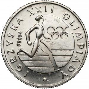 Próba NIKIEL 20 złotych 1980 XXII Olimpiada - biegacz