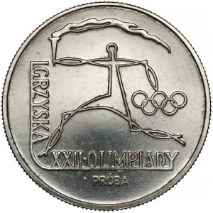 Próba NIKIEL 20 złotych 1980 XXII Olimpiada - znicz
