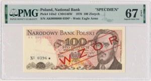 100 złotych 1976 - WZÓR - AK 0000000 - No.0396