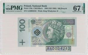 100 złotych 1994 - AA 0004242