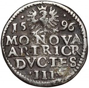 Śląsk, Adam Wacław, 3 krajcary Cieszyn 1596 - b.rzadki