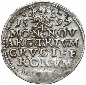 Śląsk, Adam Wacław, 3 krajcary Cieszyn 1597 - CRVCIFERORVM