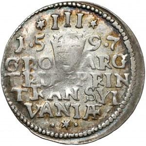 Transylvania, Sigismund Báthory, 3 Groschen Nagybanya 1597