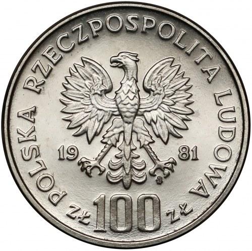 Próba NIKIEL 100 złotych 1981 Konie