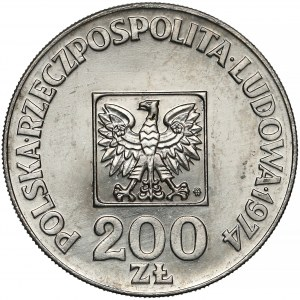 Próba NIKIEL 200 złotych 1974 XXX lat PRL