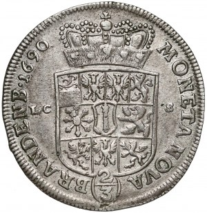 Niemcy, Prusy-Brandenburgia, Fryderyk III, 2/3 talara (gulden) 1690 LCS