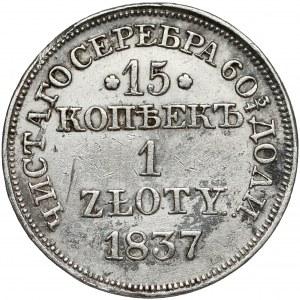 15 kopiejek = 1 złoty 1837 MW, Warszawa