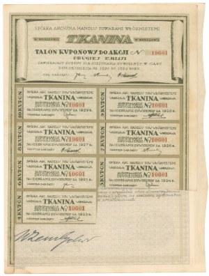 TKANINA Sp. Akc. Handlu Towarami Włóknistemi, Em.2, 500 mkp