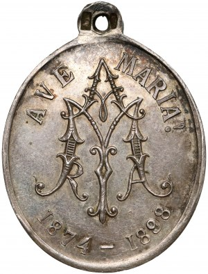 Czech Republic, Religious medal 1898 - Mother of God / Mariansky Spolek...