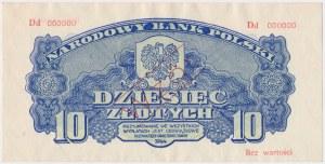 10 złotych 1944 ...owe - WZÓR - Dd