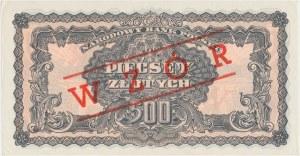 500 złotych 1944 ...owe - BH - wzór kolekcjonerski