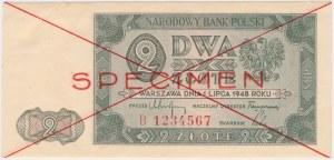 2 złote 1948 - SPECIMEN - B