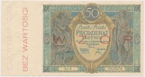 50 złotych 1925 - WZÓR - Ser.A