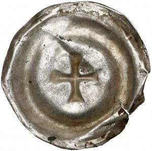 Brakteat - Krzyż grecki - Pomorze Gdańskie (2 poł. XIII w.)