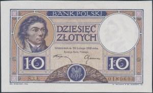 10 złotych 1919 - S.3.A. - fioletowa klauzula