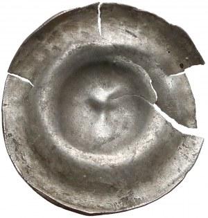 Władysław I Łokietek, Brakteat - głowa Orła w koronie - rzadki
