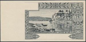 Londyn, 100 złotych 1939 - druk próbny rewersu - lustrzane odbicie - ex. Dąbrowski