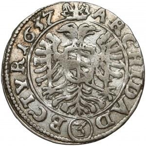 Austria, Ferdynand III, 3 krajcary 1637, Wiedeń