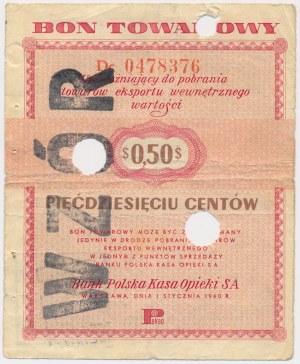 PEWEX 50 centów 1960 - WZÓR - numeracja bieżąca