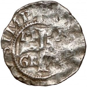 Niemcy, Kolonia, Konrad II i Pilgrim (1027-1036), Denar - PILIGRIM