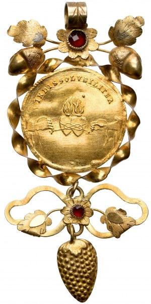August II Mocny, Dukat zaślubinowy 1719 - w formie biżuterii
