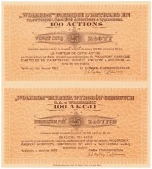 WOLBROM Fabryka Wyrobów Gumowych, 100x 25 zł 1925