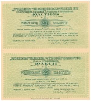 WOLBROM Fabryka Wyrobów Gumowych, 10x 25 zł 1925