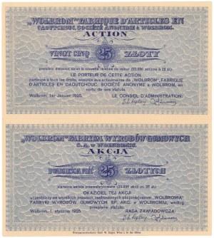 WOLBROM Fabryka Wyrobów Gumowych, 25 zł 1925