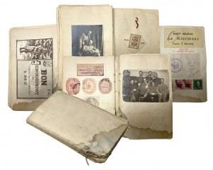 Pamiętnik legionisty 1915/16. Liczne zdjęcia, cegiełki, stemple pamiątki itp.