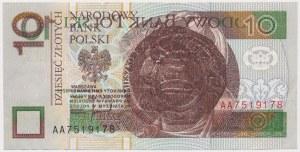 BŁĘDNODRUK 10 złotych 1994 - usterka druku stalorytniczego