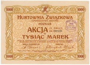 Hurtownia Związkowa w Poznaniu, Em.3, 1.000 mkp