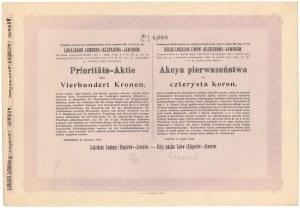 Kolej Lokalna Lwów (Kleparów)-Jaworów, 400 koron 1903