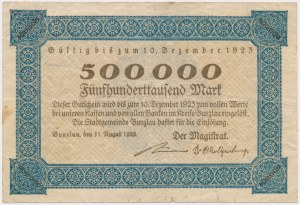 Bunzlau (Bolesławiec), 500.000 mk 1923