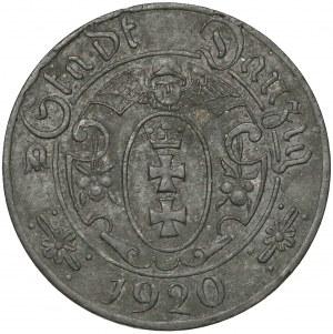 Gdańsk, 10 fenigów 1920 - 58 perełek - pyzaty