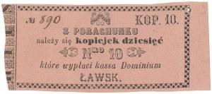 Ławsk, Dominium, 10 kopiejek (XIX w.)