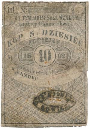 Łowicz, 10 kopiejek 1862