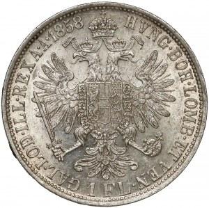 Austria, Franz Joseph I, 1 florin 1858 A