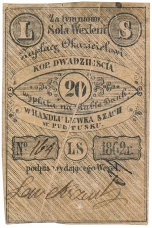 Pułtusk, Lewek Szach, 20 kopiejek 1862